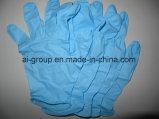 Azul ou em pó descartável Luvas de nitrilo sem pó