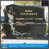 Monumento nero del cuore di angelo del granito, tomba/memoriale/creatori del cimitero