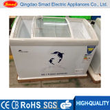 曲げられたスライドガラスドアのアイスクリームの表示フリーザー(SC/SD268Y)