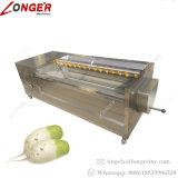 자동적인 감자 씻기와 껍질을 벗김 기계 생강 세탁기