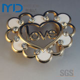 Calore Shape Cute Belt Buckles con Rhinestone e Love Letter per Women e Girls