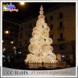 Luz de rua ao ar livre do Natal da árvore do feriado da decoração da corda do diodo emissor de luz