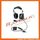 Генералитет Aviation Pilot Noise Cancelling Headphones с подвесным микрофоном Metal