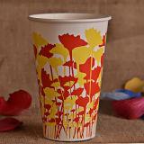 La taza de papel de la categoría alimenticia con el PE doble cubrió para la bebida del jugo