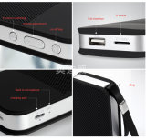 La mini Banca portatile di potere dell'altoparlante di Bluetooth con la corda della mano