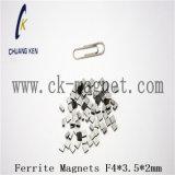 Ck에 의하여 소결되는 알파철 자석 F4*3.5*2mm