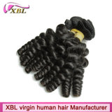 Natural Black Color Virgin Remy Cabelo Humano