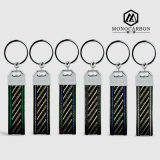 Цветастое волокна углерода качества ювелирных изделий способа кольцо самого лучшего реального ключевое