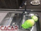 Hölzerne und moderne einfache Lack-Küche-Schränke