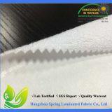 백색 PU를 가진 고품질 Waterproor 대나무 테리에 의하여 박판으로 만들어지는 직물