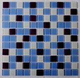 ¡2017 nuevo! Azulejos cuadrados azules del vidrio de mosaicos