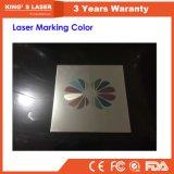 macchina della marcatura del laser della fibra di colore di Alumilum dell'acciaio inossidabile del metallo di 20W 30W
