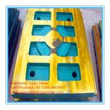 Peças elevadas da carcaça do manganês para a placa da maxila do triturador de maxila