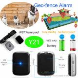 1000mAh espera larga Pet Tracker GPS con IP67 Resistente al agua Y21