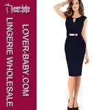 Formales würdevolles Kleid-Frauen-Geschäft MIDI-Kleid (L36022-2)