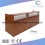O mobiliário moderno em U Escritório Mesa de recepção de madeira (CAS-RD1801)