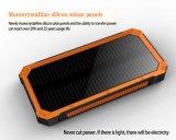 Batería solar de la potencia del cargador de la antorcha de la luz del acceso dual de la batería más nueva del Li-Polímero