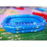 Fora jogos aquáticos insufláveis, 0.9mm lona de PVC azul profundo Piscina insuflável
