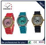 O quartzo do relógio de pulso da forma presta atenção à senhora relógio do diamante (DC-384)