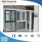 Venta caliente la parrilla de aluminio con doble acristalamiento el diseño de ventana deslizante