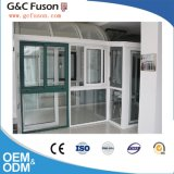 Neues Modell-Aluminiumprofil-Doppelverglasung-schiebendes Fenster-Gitter-Entwurf