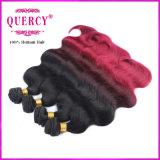 100% выдвижение человеческих волос объемной волны Weave человеческих волос Omber девственницы бразильское, покрашенные бразильские волосы