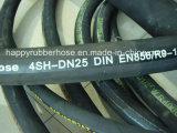 Hochleistungsgewundener hydraulischer Gummivierdrahthochdruckschlauch 4sp