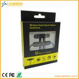 Stéréo courant avec MIC Earbuds pour l'écouteur sans fil de Bluetooth de téléphones cellulaires de Samsung de l'iPhone 7
