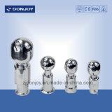 Dn25 Ss 304 Válvula de globo neumático con conexión de abrazadera de bola de limpieza