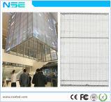 Alta visualización de LED de cristal transparente del 80% P5mm para el departamento de ventana