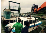 Aqualand 12 사람 섬유유리 오두막 또는 물 택시 배 (물 택시 760)