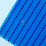 바이어 Material의 Blue 서리로 덥은 Polycarbonate PC Hollow Sheet