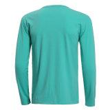 卸し売り快適で純粋なカラー人の長い袖のTシャツの上