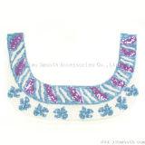 Accessori Sequined dell'indumento del vestito da Applique dei branelli del tessuto del collare del merletto di colori