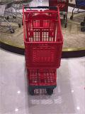 جديد تصميم مغازة كبرى بلاستيكيّة تسوق حامل متحرّك عربة [يد-002]