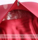 Color rojo chino 100% seda de morera funda de almohada