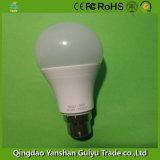 B22 9W lâmpada LED com corpo de alumínio e de Plástico