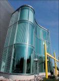 Grande/formato enorme/gigante/enorme piano/ha piegato il vetro Tempered personalizzato per la facciata