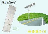 Energy-Saving alle-in-Één van de Automatische Lichte Controle van de hoge Efficiency ZonneStraatlantaarns