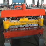 ロシアで熱い機械を形作る鋼鉄タイルロールを着色した