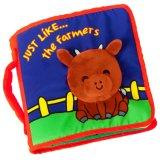 Livre d'enfants écologique Bébé doux de chiffon de tissu livre