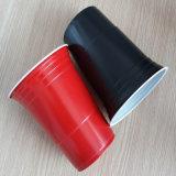 [16وز] [450مل] [بس] يثنّى لون أحمر منفردا جعة [بونغ] فنجان مع علامة تجاريّة