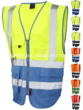 Chaleco de segurança reflector de poliéster com CE / En471 / Classe 2