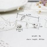 Rose гравирует ожерелье таможни цветка вензеля чокеровщика дисков письма