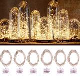 Starry String медный провод освещения/серебристый провод светодиодный индикатор строки с питание от аккумулятора