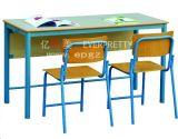 Escritorio y silla del doble del estudiante de los muebles de escuela para la sala de clase