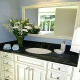 Azulejos polidos Emerald Pearl Stone Granito verde para bancada / lavatório / pia / puxar / andar / prateleira de canto