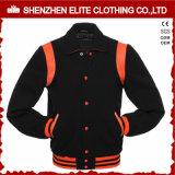 Куртка Леттермена университетской спортивной команды шерстей кожаный с клобуком