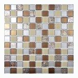 2017 novo! Mosaico de vidro dourado quadrado