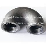 Croix de sortie de couplage de té de coude de garnitures de pipe de bâti d'acier du carbone
